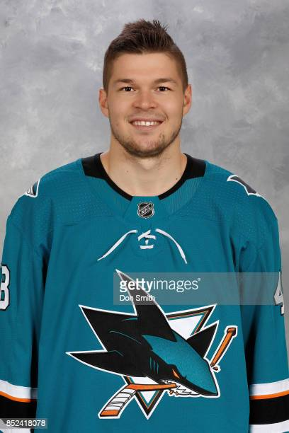 Tomas Hertl of the San Jose Sharks poses for his official headshot for the 201718 season on September 14 2017 at Sharks Ice in San Jose California