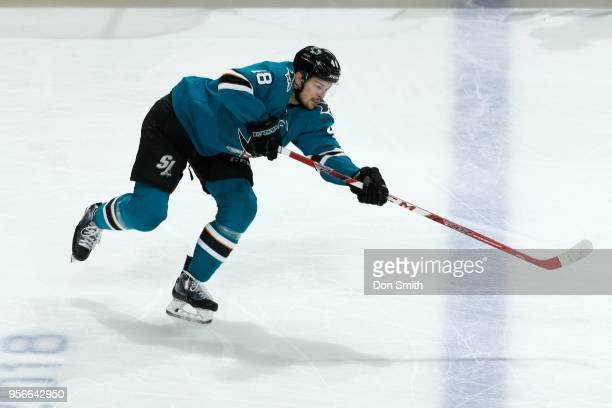 Tomas Hertl of the San Jose Sharks skates in Game Six of the Western Conference Second Round against the Vegas Golden Knights during the 2018 NHL...