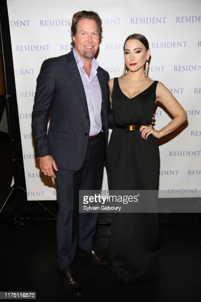 Tomas Hios and Janel Tanna attend Janel Tanna's Cover Party By Resident Magazine at Philippe Chow on October 9 2019 in New York City