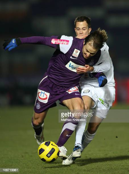 Tomas Jun of Austria Wien and Christian Klem of Sturm Graz compete for the ball during the tipp3-Bundesliga powered by T-Mobile match between FK...