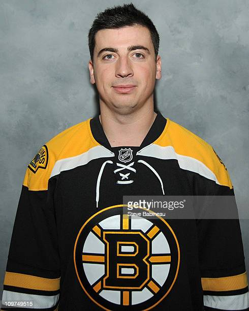 Tomas Kaberle of the Boston Bruins poses for his headshot before the game against the Tampa Bay Lightning at the TD Garden on March 3 2011 in Boston...