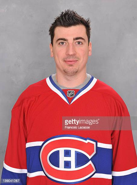 Tomas Kaberle of the Montreal Canadiens poses for his official headshot for the 201112 season before the NHL game against the Boston Bruins on...