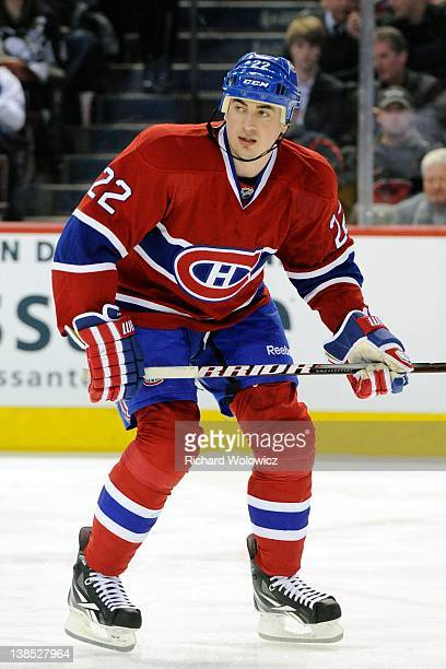 Tomas Kaberle of the Montreal Canadiens skates during the NHL game against the Pittsburgh Penguins at the Bell Centre on February 7 2012 in Montreal...