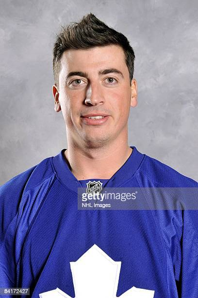 Tomas Kaberle of the Toronto Maple Leafs poses for his official headshot for the 20082009 NHL season