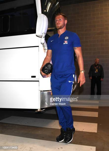 Tomas Kalas of Chelsea arrives during the international friendly between Chelsea FC and Perth Glory at Optus Stadium on July 23 2018 in Perth...
