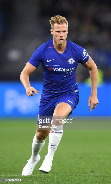 Tomas Kalas of Chelsea during the international friendly between Chelsea FC and Perth Glory at Optus Stadium on July 23 2018 in Perth Australia