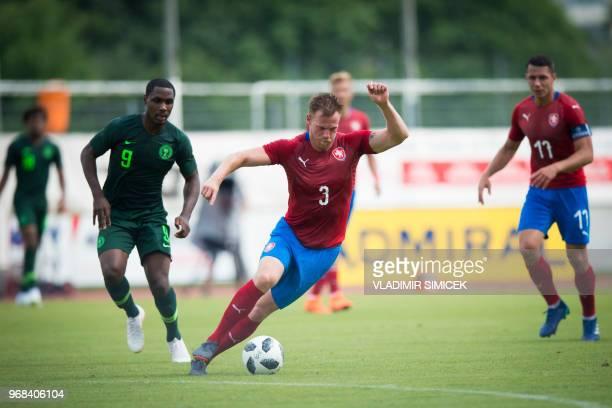 Tomas Kalas of Czech Republic controls the ball during the international friendly football match between Nigeria and Czech Republic in Rannersdorf...