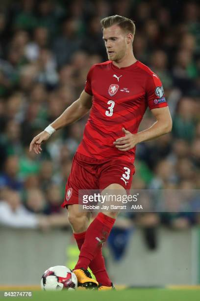 Tomas Kalas of Czech Republic during the FIFA 2018 World Cup Qualifier between Northern Ireland and Czech Republic at Windsor Park on September 4...