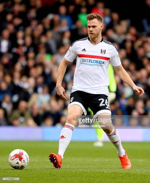 Tomas Kalas of Fulham in action during the Sky Bet Championship match between Fulham and Wolverhampton Wanderers at Craven Cottage on March 18 2017...