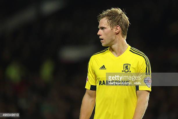 Tomas Kalas of Middlesbrough during the Capital One Cup Fourth Round match between Manchester United v Middlesbrough at Old Trafford on October 28...