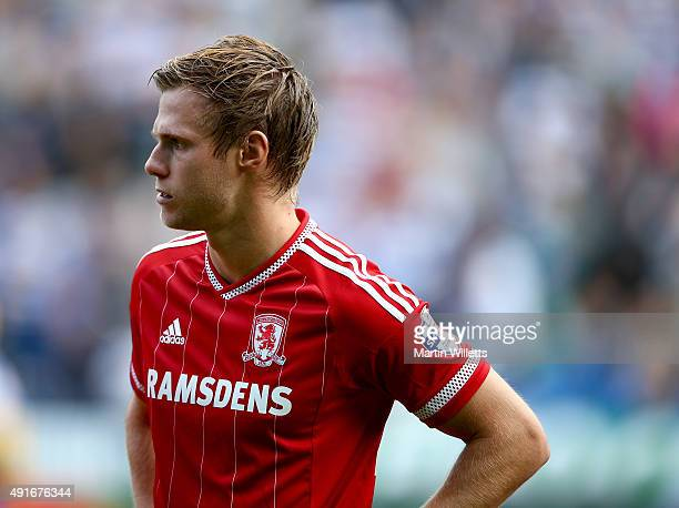 Tomas Kalas of Middlesbrough during the Sky Bet Championship match between Reading and Middlesbrough at Madejski Stadium on October 3 2015 in Reading...
