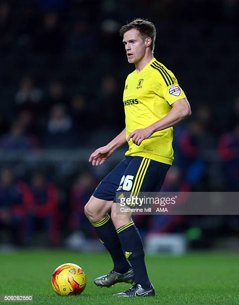 Tomas Kalas of Middlesbrough during the Sky Bet Championship match between MK Dons and Middlesbrough at Stadium mk on February 9 2016 in Milton...