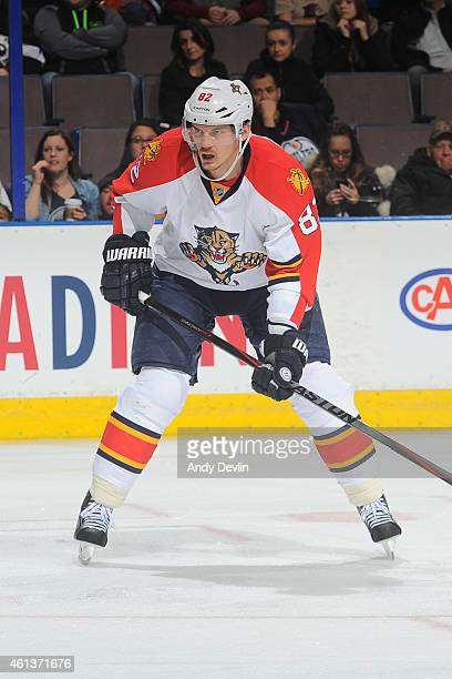 Tomas Kopecky of the Florida Panthers skates on the ice during the game against the Edmonton Oilers on January 11 2015 at Rexall Place in Edmonton...