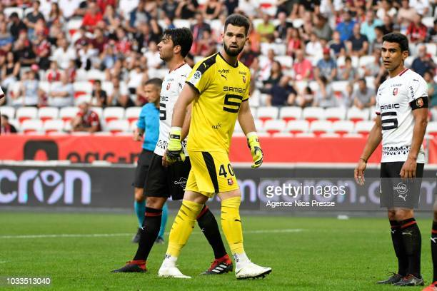 Tomas Koubek of Rennes during the French Ligue 1 match between Nice and Rennes on September 14 2018 in Nice France