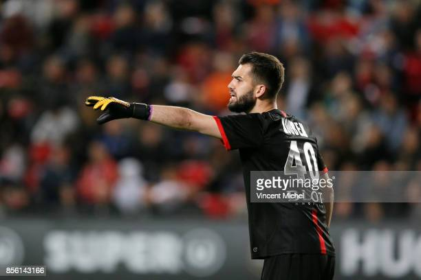 Tomas Koubek of Rennes during the Ligue 1 match between Stade Rennais and SM Caen at Roazhon Park on September 30 2017 in Rennes