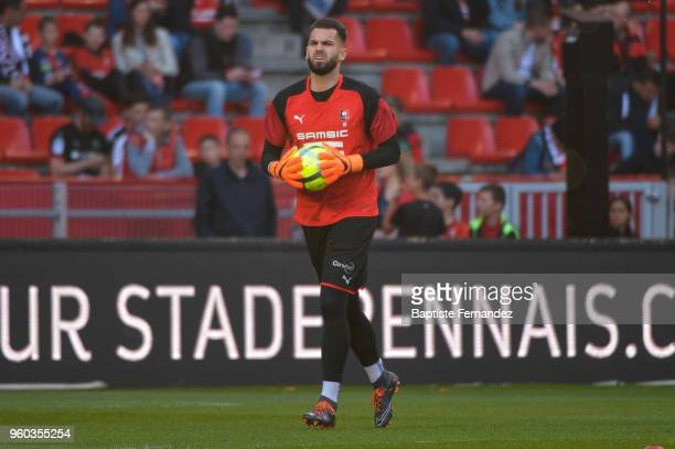Tomas Koubek of Rennes during the Ligue 1 match between Stade Rennes and Montpellier Herault SC at Roazhon Park on May 19 2018 in Rennes