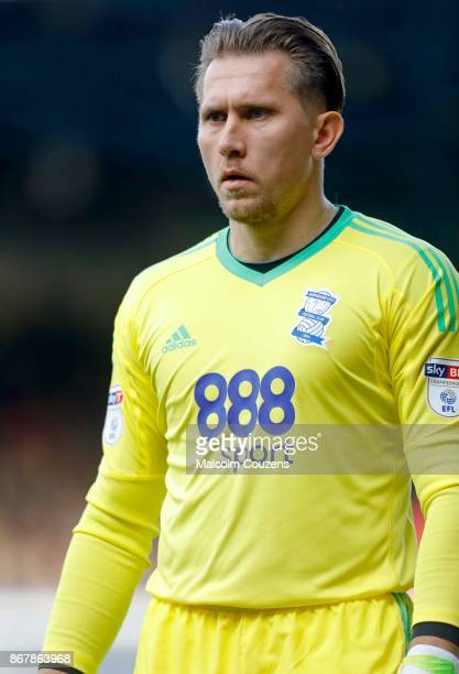 Tomas Kuszczak of Birmingham City during the Sky Bet Championship match between Birmingham City and Aston Villa at St Andrews on October 29 2017 in...