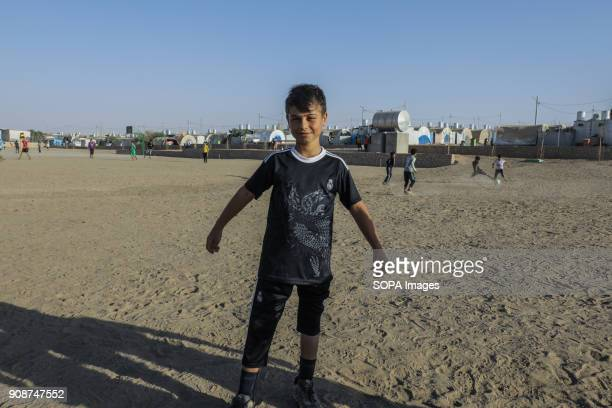 Tomas loves to play football and a fan of Cristiano Ronaldo his dream is to meet Ronaldo one day Thomas an 11year old Yazidi boy from Shingal who was...