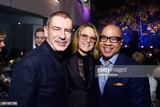 Tomas Maier Ann Philbin and Darren Walker at the Hammer Museum 15th Annual Gala in the Garden with Generous Support from Bottega Veneta on October 14...