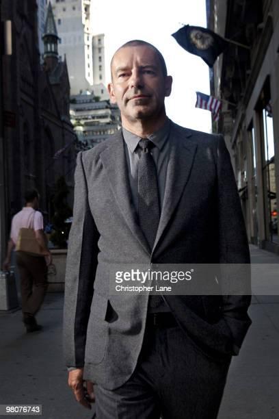 Tomas Maier creative director of Bottega Veneta poses for a portrait session on July 8 New York NY