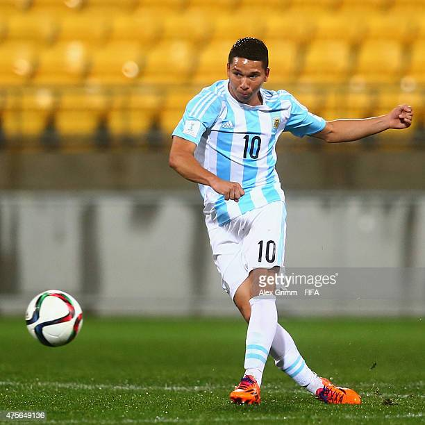 Tomas Martinez of Argentina controles the ball during the FIFA U20 World Cup New Zealand 2015 Group B match between Argentina and Ghana at Wellington...