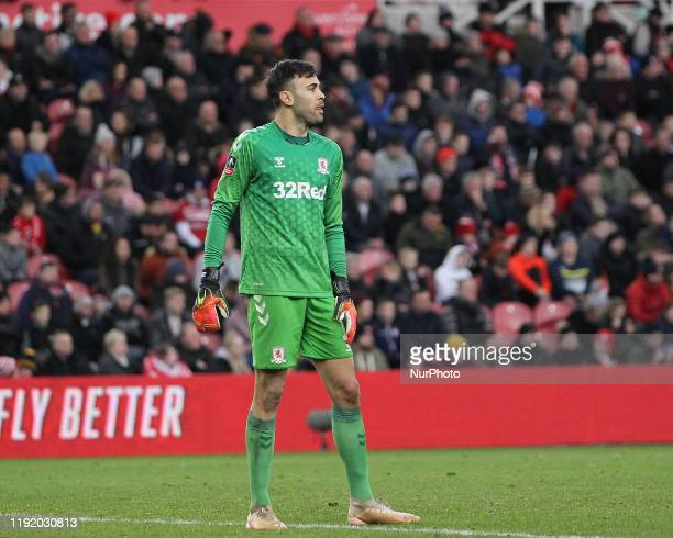 Tomas Mejias of Middlesbrough during the FA Cup Third Round match between Middlesbrough and Tottenham Hotspur at the Riverside Stadium, Middlesbrough...