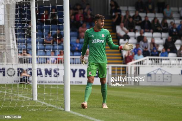 Tomas Mejias of Middlesbrough during the Pre-season Friendly match between Hartlepool United and Middlesbrough at Victoria Park, Hartlepool on Sunday...