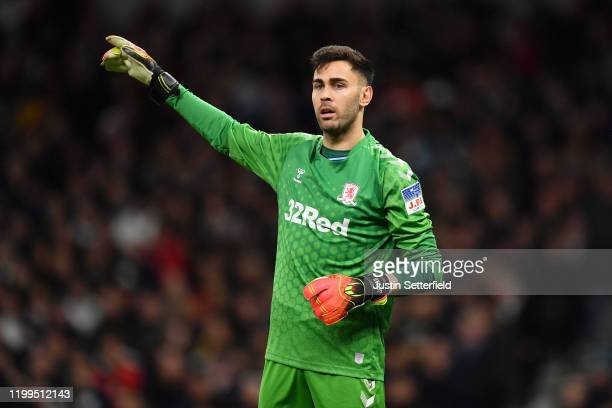 Tomas Mejias of Middlesbrough gestures during the FA Cup Third Round Replay match between Tottenham Hotspur and Middlesbrough FC at Tottenham Hotspur...