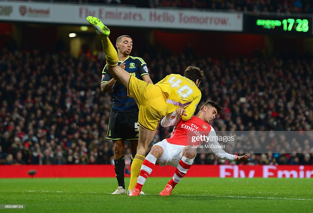 Arsenal v Middlesbrough - FA Cup Fifth Round : News Photo