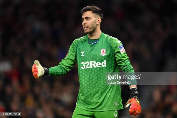 Tomas Mejias of Middlesbrough reacts during the FA Cup Third Round Replay match between Tottenham Hotspur and Middlesbrough at Tottenham Hotspur...