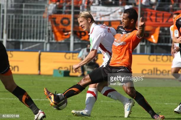 Tomas MICOLA / Jacques Alaixys ROMAO Brest / Lorient 5eme journee de Ligue 1
