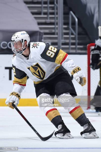 Tomas Nosek of the Vegas Golden Knights skates on the ice during the second period against the Los Angeles Kings at STAPLES Center on April 12, 2021...