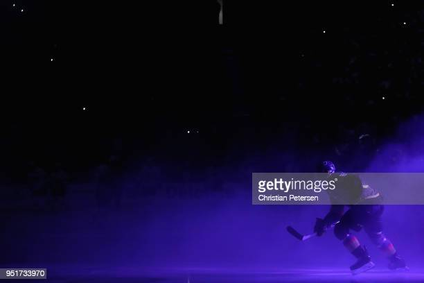 Tomas Nosek of the Vegas Golden Knights skates onto the ice before Game One of the Western Conference Second Round against the San Jose Sharks during...