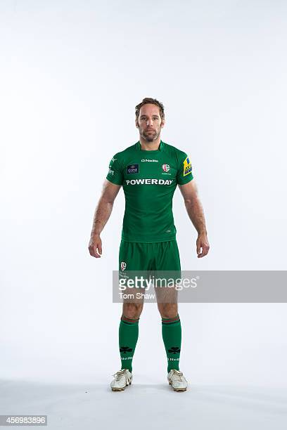 Tomas O'Leary of London Irish poses for a picture during the BT PhotoShoot at Sunbury Training Ground on August 27 2014 in Sunbury England