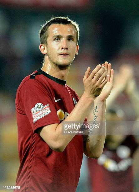 Tomas Pekhart of Sparta Praha in action during their Czech First League match between Sparta Praha and SK Sigma Olomouc at the Generali Arena on...