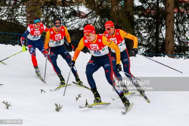 Tomas Portyk, Jakob Lange, Julian Schmid and Johannes Rydzek compete in the FIS Nordic Combined World Cup, Individual Gundersen , on December 22,...