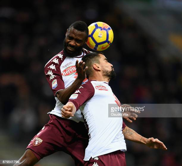 Tomas Rincon and Nicolas Alexis Julio N'Koulou of Torino FC in action during the Serie A match between AC Milan and Torino FC at Stadio Giuseppe...