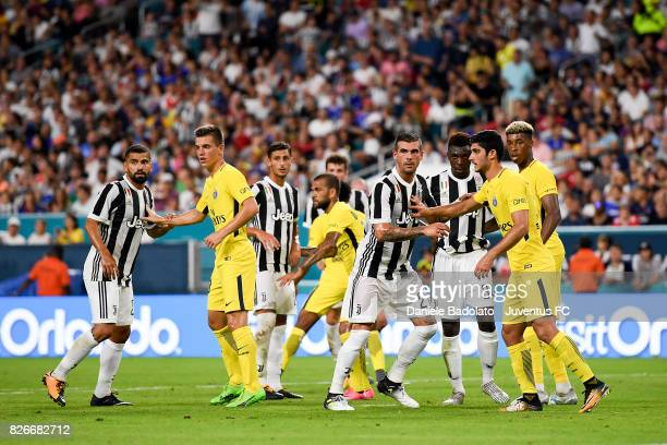 Tomas Rincon and Stefano Sturaro of Juventus in action during the International Champions Cup 2017 match between Paris Saint Germain and Juventus at...