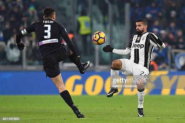 Tomas Rincon of FC Juventus in action against Rafael Toloi of Atalanta BC during the TIM Cup match between FC Juventus and Atalanta BC at Juventus...
