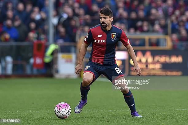 Tomas Rincon of Genoa CFC in action during the Serie A match between Genoa CFC and Torino FC at Stadio Luigi Ferraris on March 13 2016 in Genoa Italy