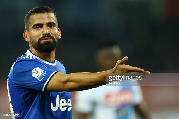 Tomas Rincon of Juventus during the TIM Cup match between SSC Napoli and Juventus FC at Stadio San Paolo on April 5 2017 in Naples Italy