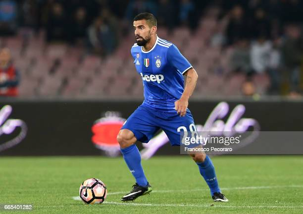 Tomas Rincon of Juventus FC in action during the TIM Cup match between SSC Napoli and Juventus FC at Stadio San Paolo on April 5 2017 in Naples Italy
