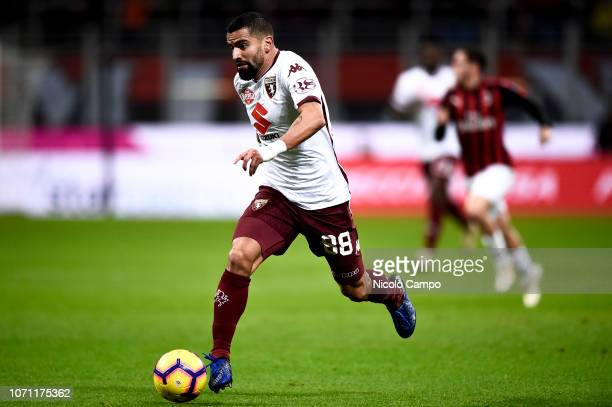 Tomas Rincon of Torino FC in action during the Serie A football match between AC Milan and Torino FC The match ended in a 00 tie
