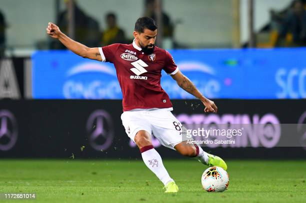 Tomas Rincon of Torino FC in action during the Serie A match between Parma Calcio and Torino FC at Stadio Ennio Tardini on September 30 2019 in Parma...