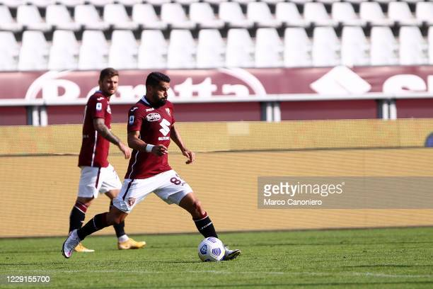 Tomas Rincon of Torino FC in action during the Serie A match between Torino Fc and Cagliari Calcio Cagliari Calcio wins 32 over Torino Fc