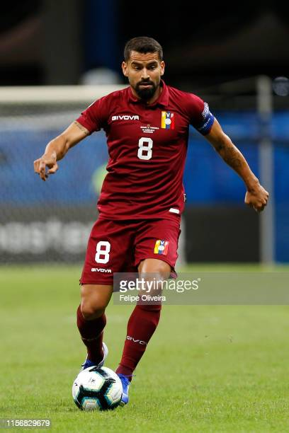 Tomas Rincon of Venezuela controls the ball during the Copa America Brazil 2019 group A match between Brazil and Venezuela at Arena Fonte Nova on...