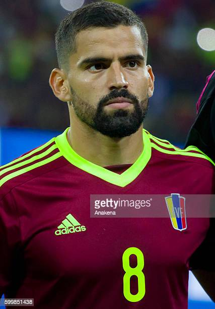 Tomas Rincon of Venezuela looks on prior a match between Venezuela and Argentina as part of FIFA 2018 World Cup Qualifiers at Metropolitano Stadium...