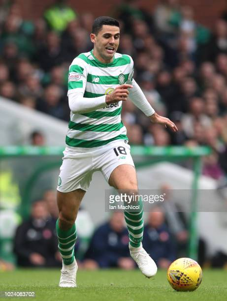 Tomas Rogic of Celtic controls the ball during the Scottish Premier League match between Celtic and Hamilton Academical at Celtic Park Stadium on...