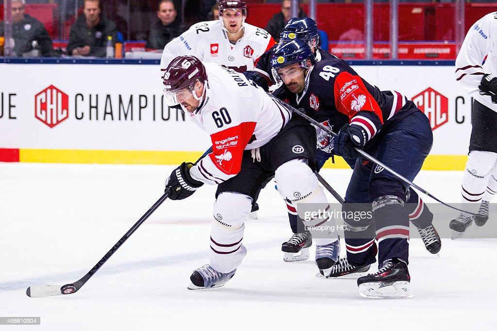 Linkoping HC v Sparta Prague - Champions Hockey League Round of 16