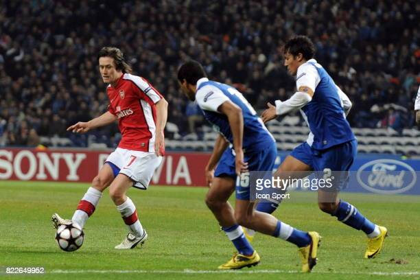 Tomas Rosicky FC Porto / Arsenal 1/8 de Finale de la Ligue des Champions League Stade du Dragon